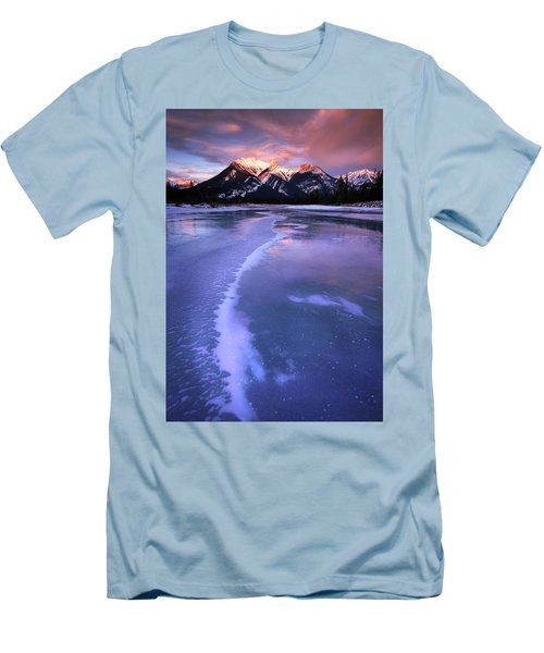 Frozen Sunrise Men's T-Shirt (Slim Fit) by Dan Jurak