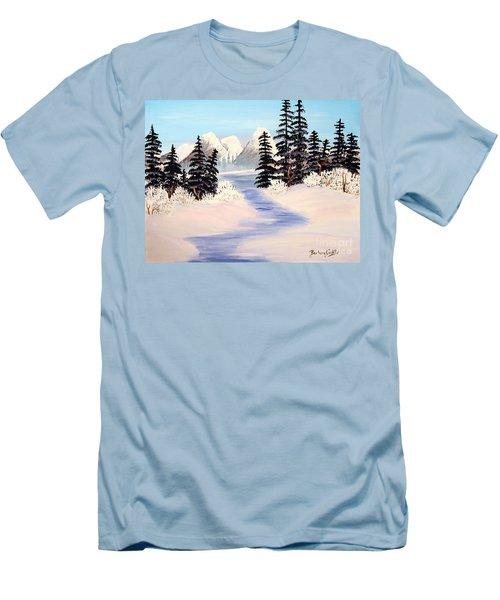 Frozen Tranquility Men's T-Shirt (Athletic Fit)