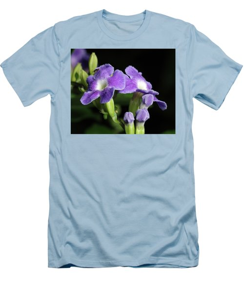 Men's T-Shirt (Slim Fit) featuring the photograph Fruit Fly On Golden Dewdrop by Richard Rizzo