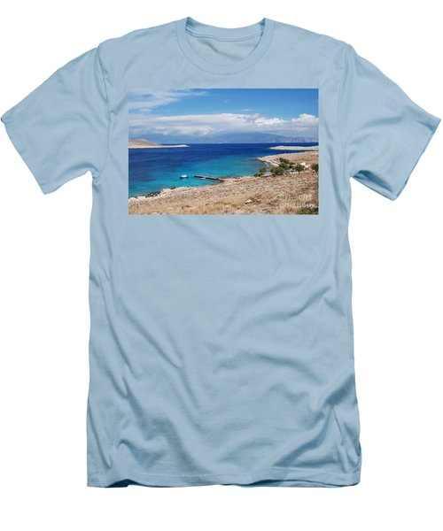 Ftenagia Beach On Halki Men's T-Shirt (Athletic Fit)