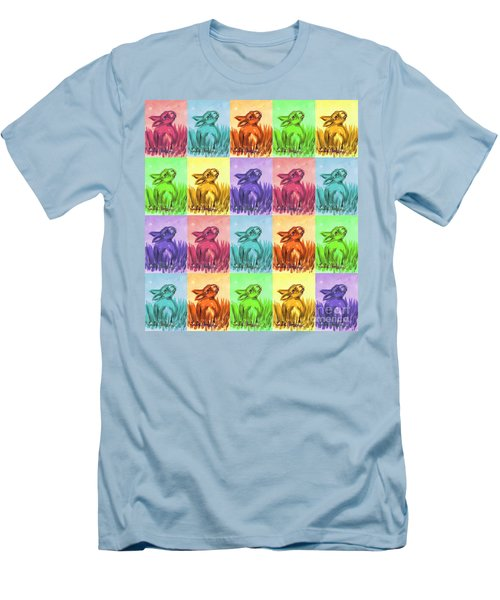Fun Spring Bunnies Men's T-Shirt (Athletic Fit)