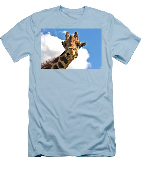 Funny Face Giraffe Men's T-Shirt (Slim Fit) by Sheila Brown