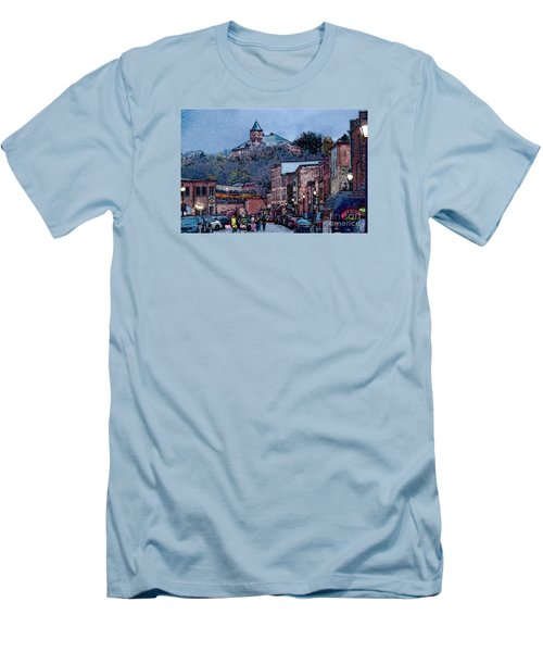 Men's T-Shirt (Slim Fit) featuring the digital art Galena Illinois by David Blank
