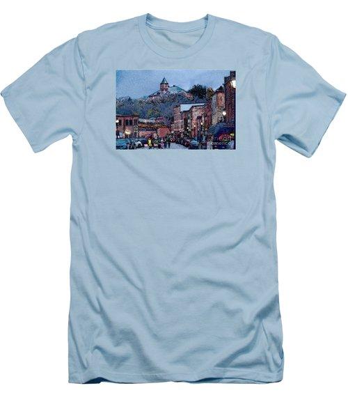 Galena Illinois Men's T-Shirt (Slim Fit) by David Blank
