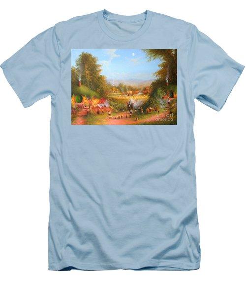 Gandalf's Return Fireworks In The Shire. Men's T-Shirt (Slim Fit) by Joe  Gilronan