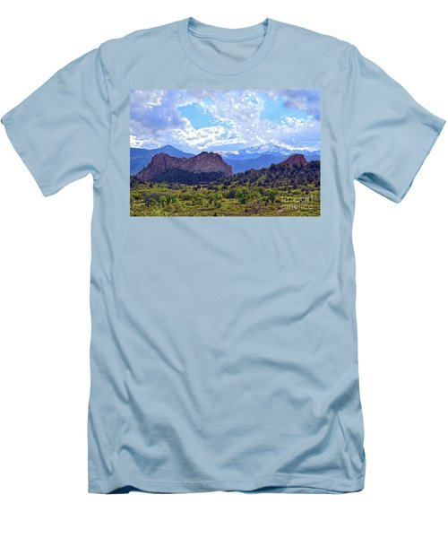 Garden Of The Gods Men's T-Shirt (Slim Fit) by Catherine Sherman