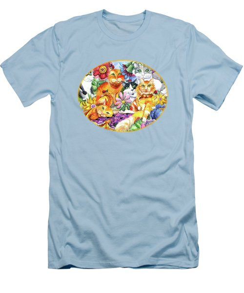 Garden Party Men's T-Shirt (Slim Fit) by Shelley Wallace Ylst