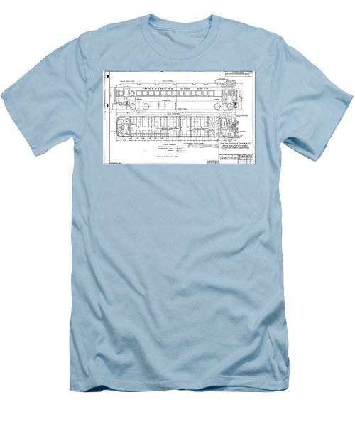 Gas Electric Car Diagram Men's T-Shirt (Athletic Fit)