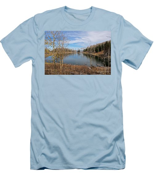 Gates Lake Men's T-Shirt (Slim Fit) by Cindy Murphy - NightVisions