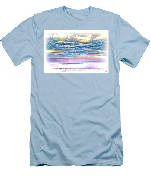 Men's T-Shirt (Slim Fit) featuring the photograph Gauzy Sunset by Walt Foegelle