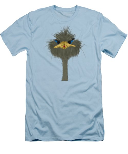George And His Visitor  Men's T-Shirt (Slim Fit) by Michelle Brenmark