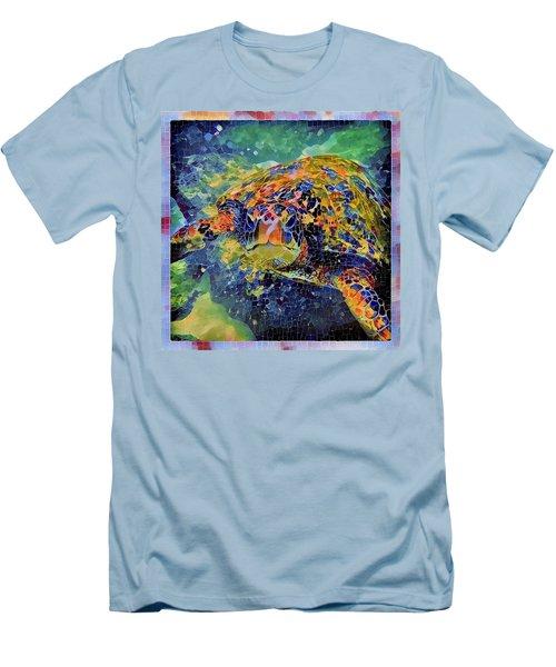 George The Turtle Men's T-Shirt (Slim Fit) by Erika Swartzkopf