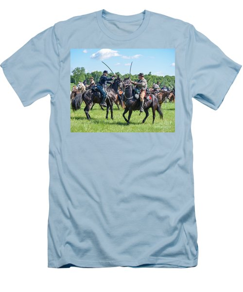 Gettysburg Cavalry Battle 7978c  Men's T-Shirt (Athletic Fit)