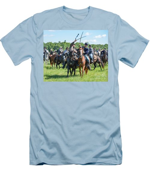 Gettysburg Cavalry Battle 7992c  Men's T-Shirt (Athletic Fit)