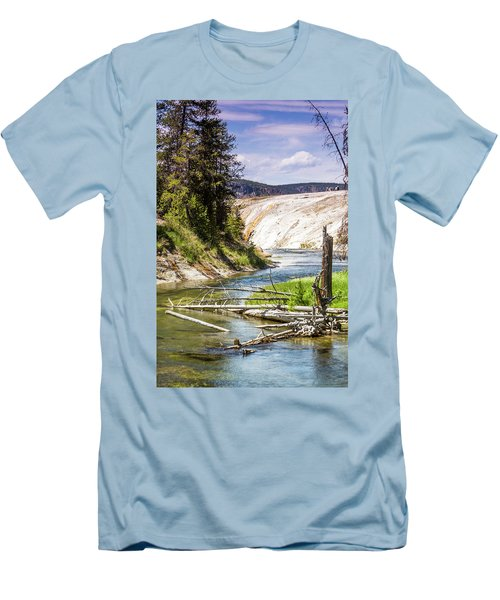 Geyser Stream Men's T-Shirt (Slim Fit) by Dawn Romine