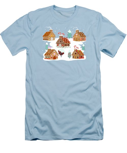 Gingerbread Village Men's T-Shirt (Athletic Fit)