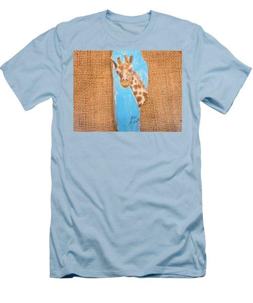 Giraffe  Men's T-Shirt (Slim Fit) by Ann Michelle Swadener