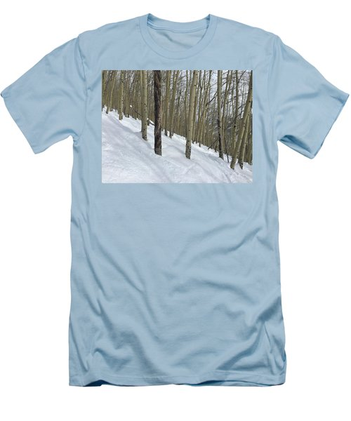 Gladed Run Men's T-Shirt (Slim Fit) by Christin Brodie