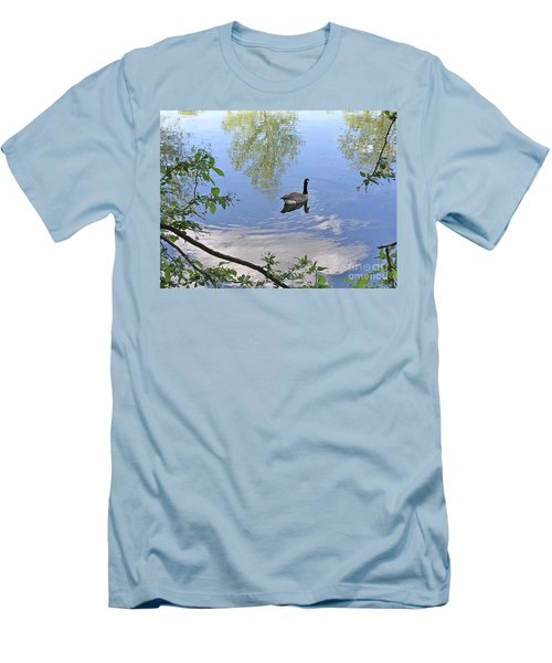 Gliding Goose Men's T-Shirt (Athletic Fit)