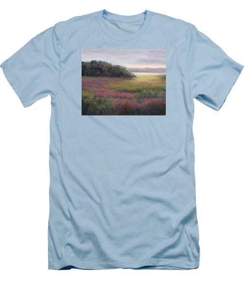 Men's T-Shirt (Slim Fit) featuring the painting Glow On Gilsland Farm by Vikki Bouffard