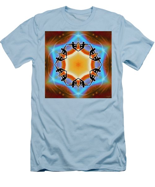 Men's T-Shirt (Athletic Fit) featuring the digital art Glowing Heartfire by Derek Gedney