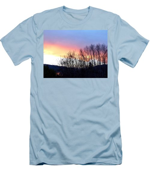 Men's T-Shirt (Slim Fit) featuring the photograph Glowing Kalamalka Lake by Will Borden