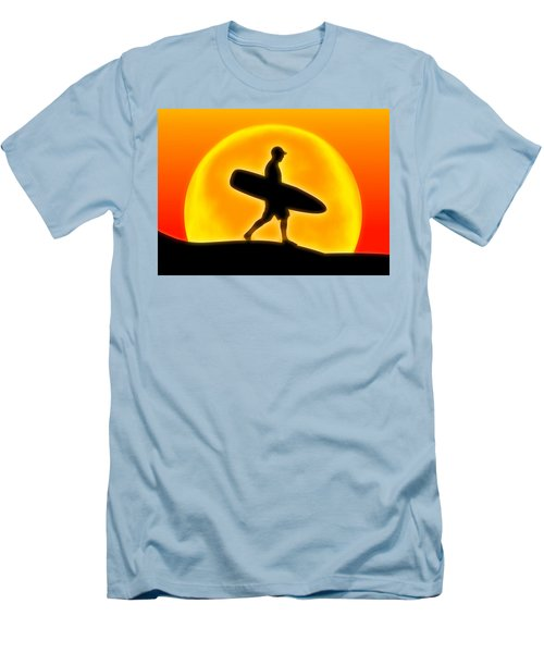 Men's T-Shirt (Slim Fit) featuring the digital art Goin' For A Surf by Andreas Thust