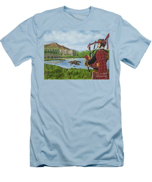 Men's T-Shirt (Slim Fit) featuring the photograph Going Home by Val Miller