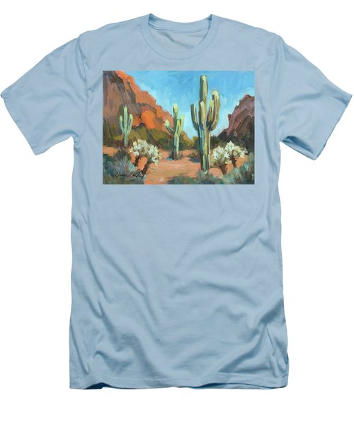 Men's T-Shirt (Slim Fit) featuring the painting Gold Canyon by Diane McClary