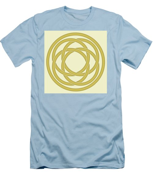 Men's T-Shirt (Slim Fit) featuring the photograph Gold Celtic Knot by Jane McIlroy