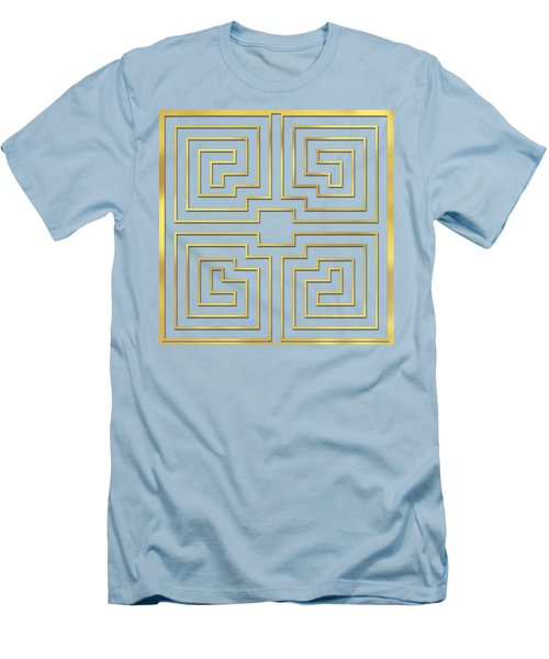 Men's T-Shirt (Slim Fit) featuring the digital art Gold Stripes Transparent by Chuck Staley