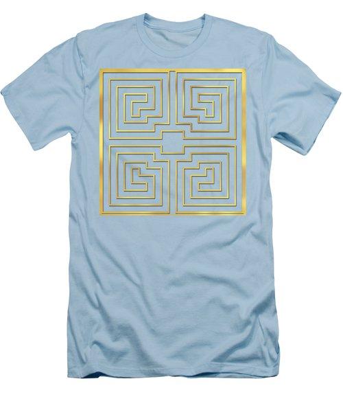 Gold Stripes Transparent Men's T-Shirt (Athletic Fit)