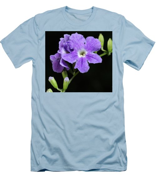 Men's T-Shirt (Slim Fit) featuring the photograph Golden Dewdrop II by Richard Rizzo