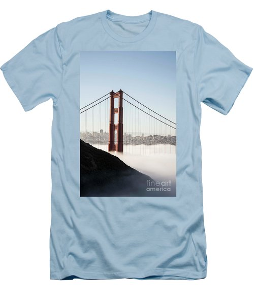 Men's T-Shirt (Slim Fit) featuring the photograph Golden Gate And Marin Highlands by David Bearden