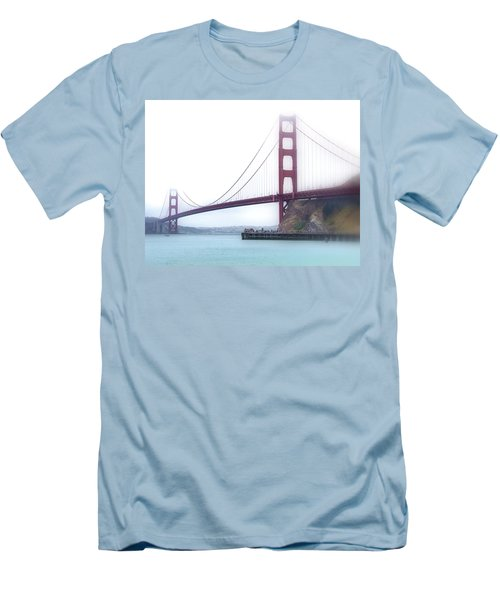 Golden Gate Bridge Men's T-Shirt (Slim Fit) by Laura DAddona
