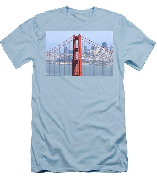 Golden Gate Bridge Men's T-Shirt (Slim Fit) by Lou Ford