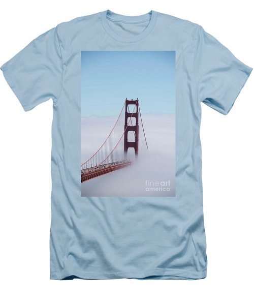 Men's T-Shirt (Slim Fit) featuring the photograph Golden Gate Fogged - 3 by David Bearden