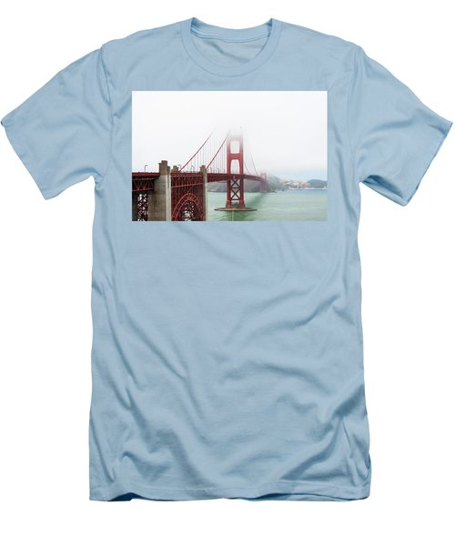 Golden Gate In The Fog Men's T-Shirt (Athletic Fit)