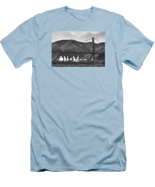 Golden Gate Seascape Men's T-Shirt (Slim Fit) by Scott Cameron
