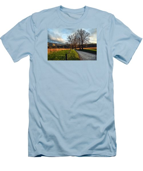 Golden Hour In The Cove Men's T-Shirt (Slim Fit) by Debbie Green