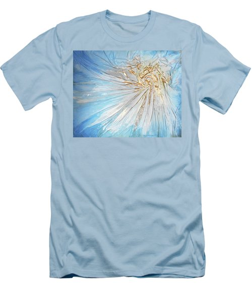 Men's T-Shirt (Slim Fit) featuring the mixed media Golden Sunshine by Angela Stout