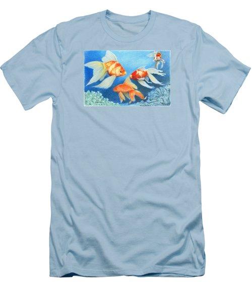 Goldfish Tank Men's T-Shirt (Slim Fit) by Phyllis Howard