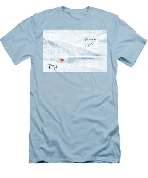 Gone Men's T-Shirt (Slim Fit) by Iryna Goodall