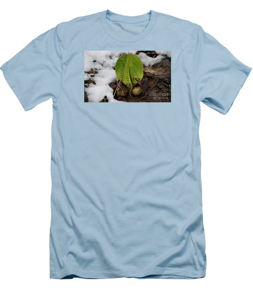 Men's T-Shirt (Slim Fit) featuring the photograph Goodbye Winter by Randy Bodkins