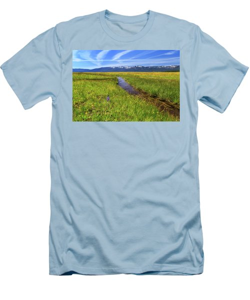 Men's T-Shirt (Slim Fit) featuring the photograph Goodrich Creek by James Eddy