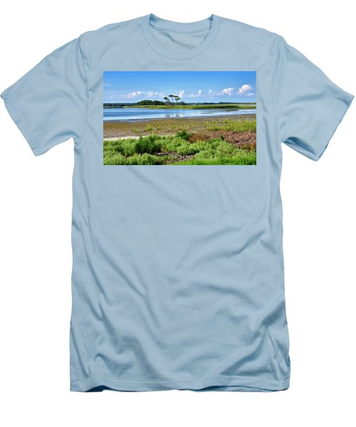 Men's T-Shirt (Slim Fit) featuring the photograph Gordons Pond At Cape Henlopen State Park - Delaware by Brendan Reals