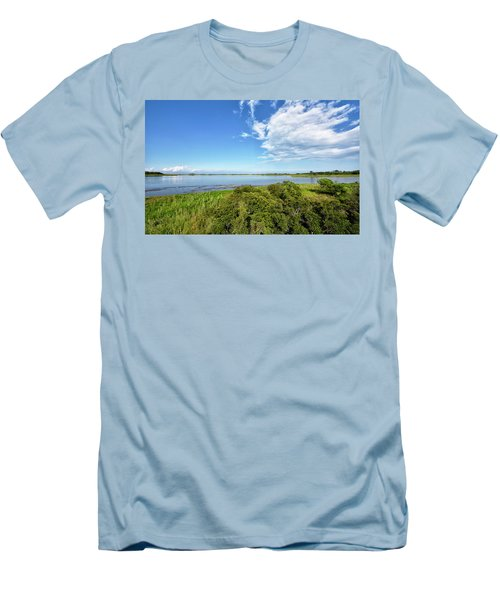 Men's T-Shirt (Slim Fit) featuring the photograph Gordons Pond Overlook - Cape Henlopen State Park - Delaware by Brendan Reals