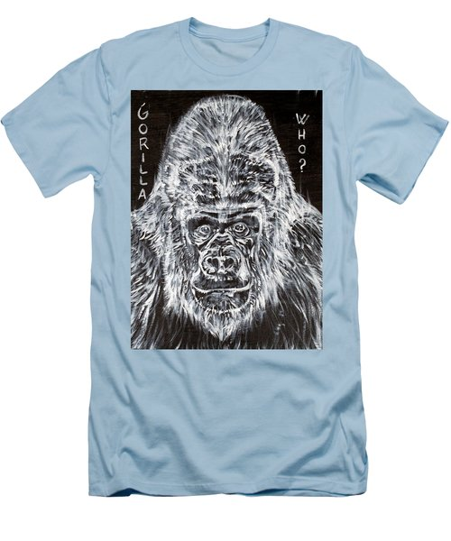 Men's T-Shirt (Slim Fit) featuring the painting Gorilla Who? by Fabrizio Cassetta