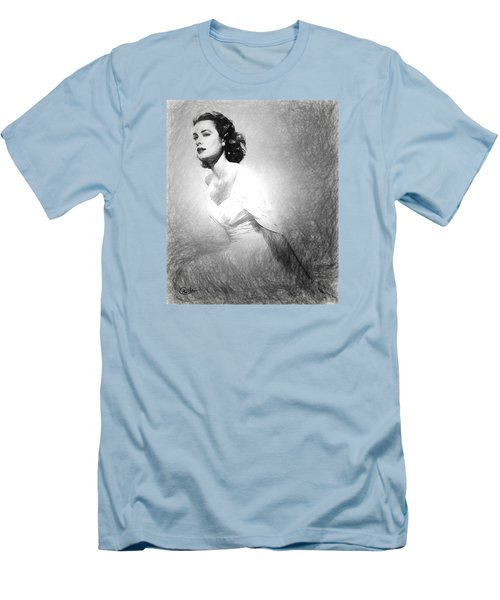 Grace Kelly Sketch Men's T-Shirt (Slim Fit) by Quim Abella