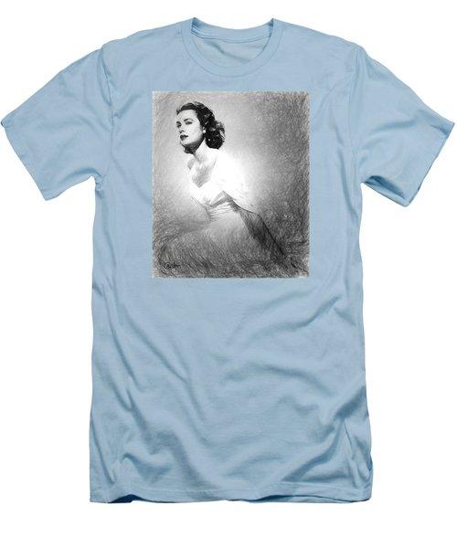 Grace Kelly Sketch Men's T-Shirt (Slim Fit)